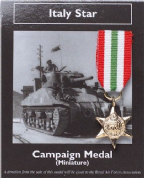 Miniature WW2 Italy Star Medal